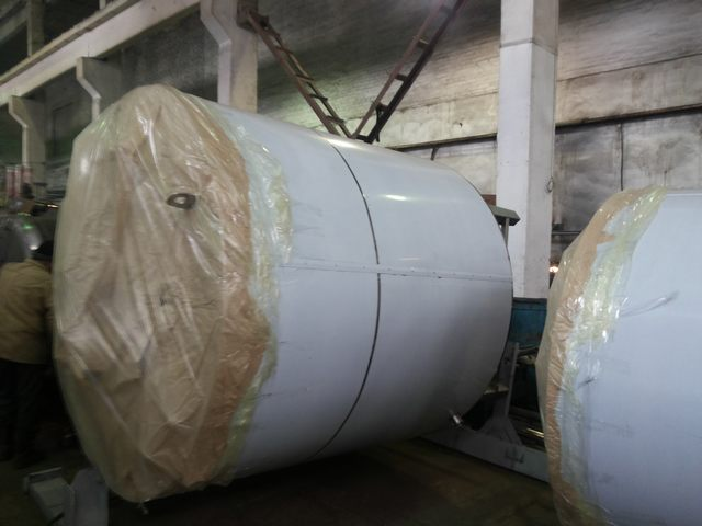 Tank, stainless steel 6 cubic meters, with a jacket and a stirrer Italy (115655)