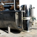 Butterheater 2,000 liters for the melting of palm oil in boxes of 20 kg (160108)