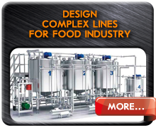 Design complex lines for production of food