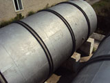 Tank of 50 cubic meters bimetal horizontal