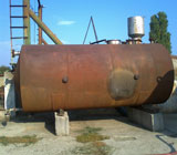The tank of 25 cubic m bimetallic horizontal