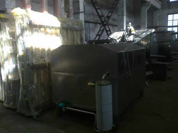 Furnace for melting fat to melt 20 kg units per 1000 liter stainless. Steel (113850)